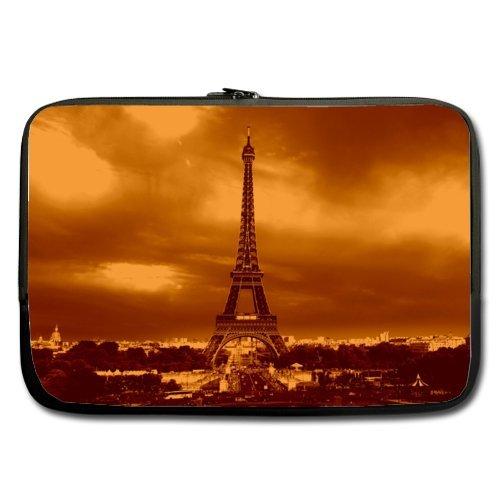 Dusk Eiffel Tower - Dusk Eiffel Tower Best Price 15.6 Inch Laptop / Notebook Computer/ Water Resistant Neoprene Laptop Sleeve (Double-sided,No Straps)