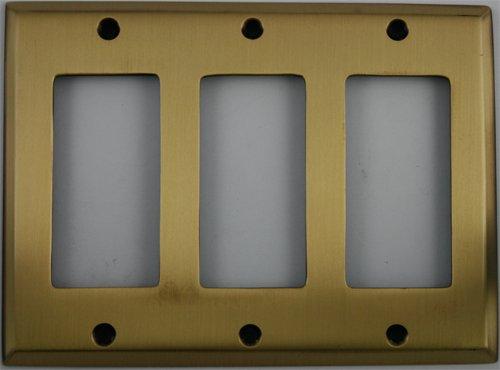 - Antique Brass 3 Gang GFI/Rocker Wall Plate