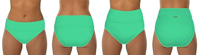 e1b05241cb15a Image Unavailable. Image not available for. Color: Swim Systems Women's Mint  Banded High Waist Bikini Bottom ...