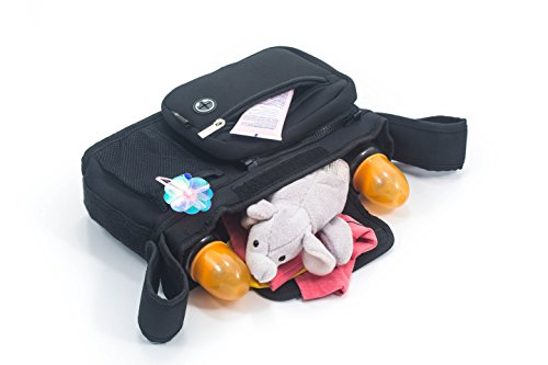 Price comparison product image 2 in 1 Stroller Organizer and Baby Bag - 5 Compartments,  Lots of space,  Light and Durable (1,  Black)