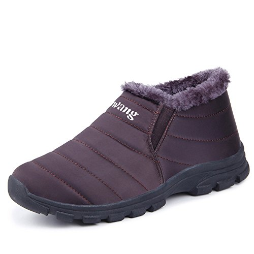 d0d34be27 CIOR Men and Women Snow Boots Fur Lined Winter Outdoor Slip On Shoes ...