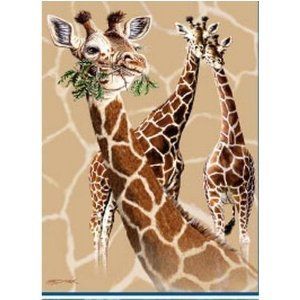 Adult giraffe throw blankets