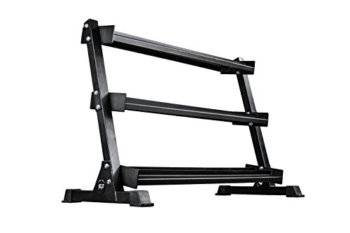 Rep Dumbbell Rack - 3-Tier Dumbbell Rack Perfect for 5-50 Dumbbell Set by Rep Fitness