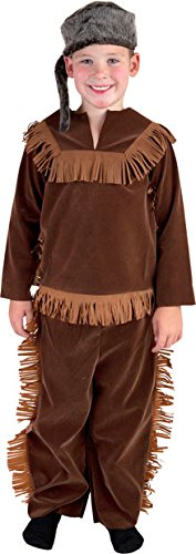 Child Daniel Boon/Davy Crockett Frontier Costume (Small 4-6) by Fun (Frontier Costumes)