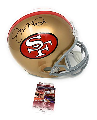 Joe Montana San Fransisco 49ers Signed Autograph Full Size Helmet JSA Witnessed Certified