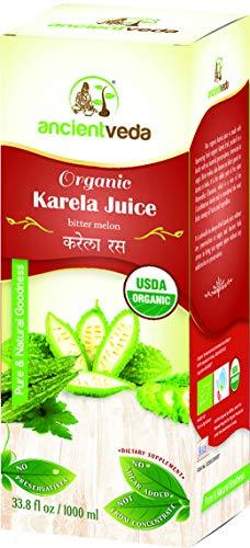 Karela Juice / Bitter Gourd 1000 ml - USDA Certified Organic - Ancient Veda