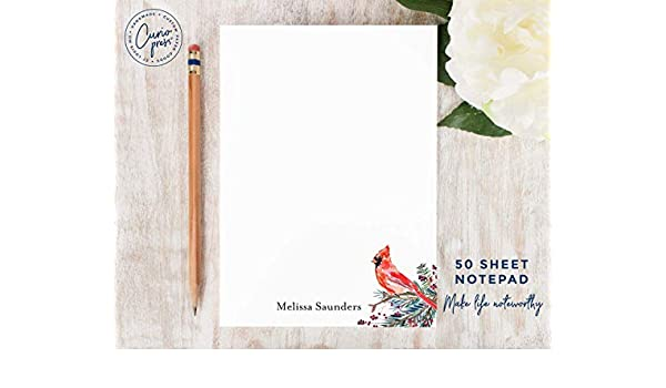 Personalized Simple Stationery//Stationary 5x7 or 8x10 Note Pad FISH NOTEPAD