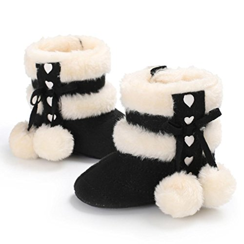 Baby Winter warme Stiefel,BeautyTop Jungen Mädchen Weiche Winter Booties Infant Kleinkind Neugeborenen Warme Schneeschuhe Schuhe Schwarz