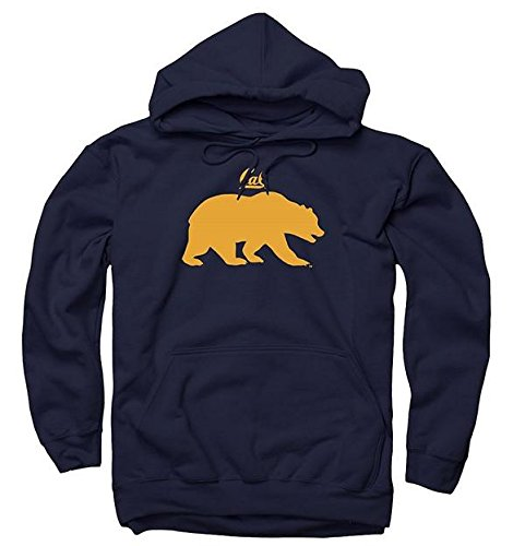 (UC Berkeley Bears Small Cal & Bear Men's Hoodie Sweatshirt-Navy)