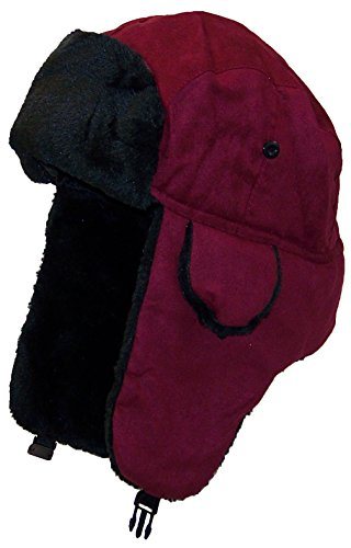 Best Winter Hats Adult Russian/Aviator Faux Suede Leather w/Faux Fur(One Size)