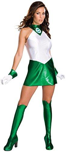 Secret Wishes Women's Green Lantern Adult Super Heroine Costume, Green/White, -