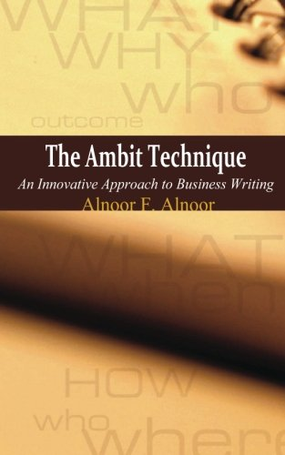 Download The Ambit Technique: An Innovative Approach to Business Writing PDF