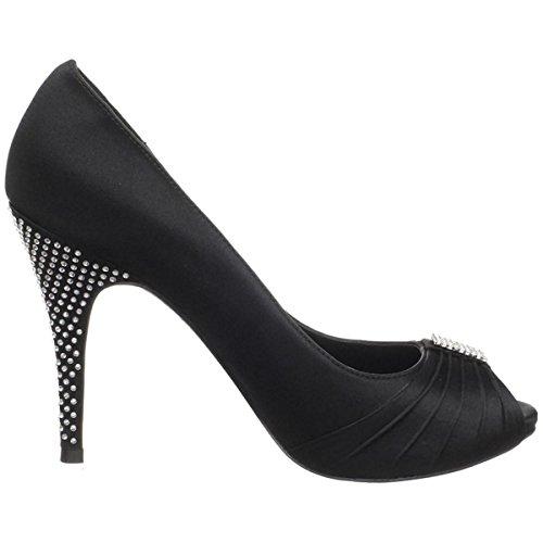 Brianna Leigh Isabella Womens Black Heels Black