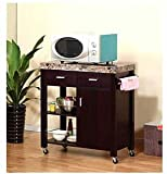 Red Cocoa Melamine Kitchen Cart