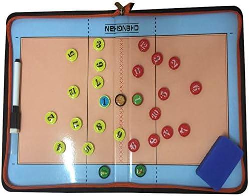 DYecHenG Tablero Táctico Plegable portátil Voleibol Tarjeta del Comando de la Cremallera de Cierre Estrategia de Formación Equipo SIDA Plan de Táctica Equipo de Estrategia: Amazon.es: Hogar