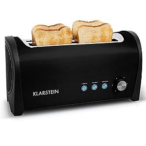 Klarstein Cambridge Design Doppel Langschlitz 4 Scheiben Toaster mit...