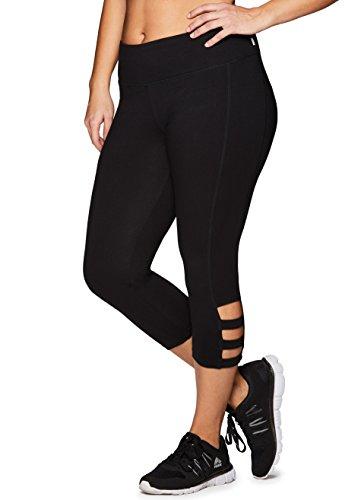 RBX Active Women's Plus Size Cotton Leggings Black Multi 3X