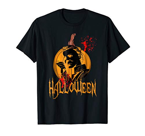Funny Halloween Michael Scary Myers Face Gift tshirt.