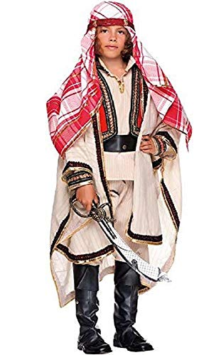 Italian Made Boys Deluxe Arabian Knight Arab National Dress Around the World Carnival Christmas Fancy Dress Costume Outfit 3-10 (10 years)]()