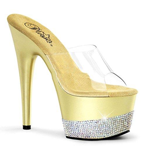Strass High 43 Heels Gold 3 Sexy Adore 35 Pleaser Sandaletten Plateau 701 fROnA0