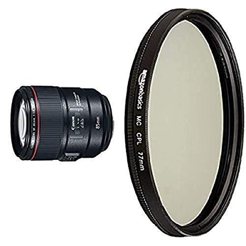 Canon EF 85 mm f / 1.4L con lente polarizador circular
