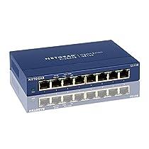 Netgear GS108GE ProSafe Switch Unmanaged Gigabit, 8 Porte 10/100/1000 Mbps