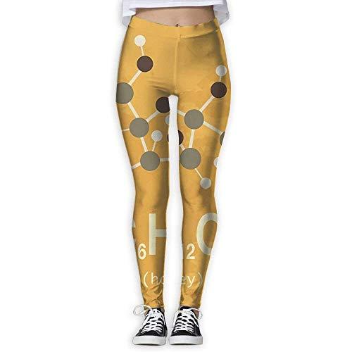 New Honey Molecule Printing Design Compression Leggings Pants Tights for Women - Adidas Honey Womens