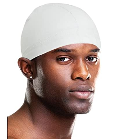 Sports Spandex Dome Cap White