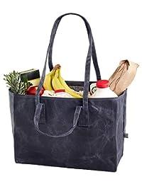 bolsas de lona para la compra, Marrón, Ancha