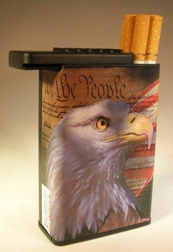 Eagle Cigarette (Flat Slide Top Cigarette Case Animal American Eagle Bird)