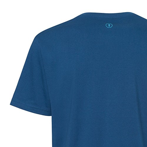 THOKKTHOKK Thin Striped T-Shirt Peagreen & Caribbean/peacock GOTS Fairtrade