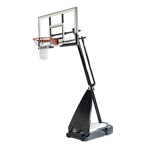 Spalding 54 in. Glass Portable Ultimate Hybrid Base Basketball System – DiZiSports Store