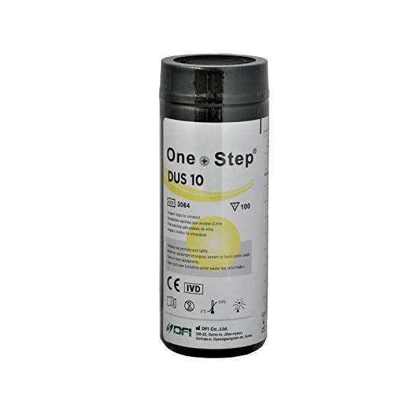 100 Tiras Reactivas para análisis de orina de 10 Parámetros: Leucocitos, nitritos, urobilinógenos, proteínas, pH, sangre… 4