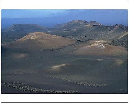 Parque nacional de Timanfaya impresión fotográfica (Fire montañas), Lanzarote, Islas Canarias, España: Amazon.es: Hogar