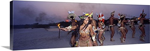Costumes Brazil Traditional Customs And (Canvas On Demand Premium Thick-Wrap Canvas Wall Art Print entitled Theatre Group Amazon)