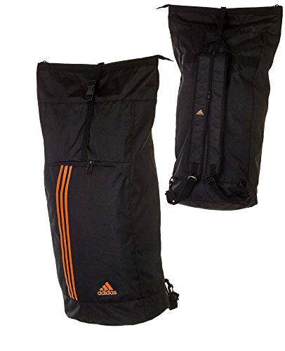 adidas Sporttasche - Sportrucksack - Seesack, Farbe schwarz / neonorange