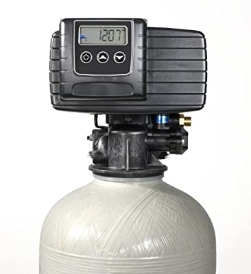 Whole House Water Softener System - Fleck 5600sxt Digital Meter Grain - includes bypass valve & brine tank with safety float