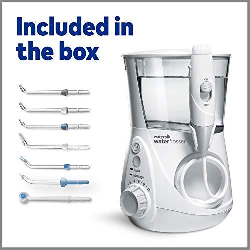 Waterpik WP-660 Water Flosser Electric Dental Countertop Professional Oral Irrigator For Teeth, Aquarius, White