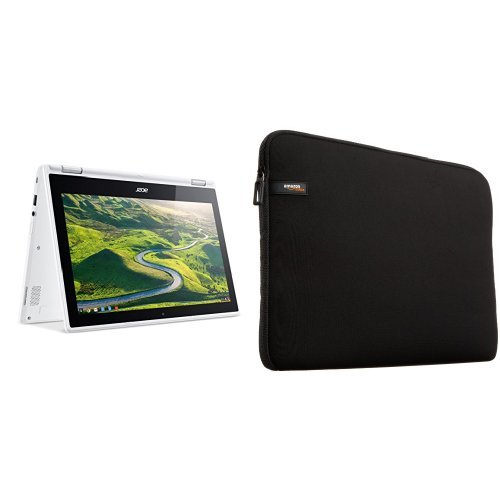 Price comparison product image Acer Chromebook R 11 Convertible, 11.6-Inch HD Touch, Intel Celeron N3150, 4GB DDR3L, 32GB, Chrome, CB5-132T-C1LK & AmazonBasics 11.6-Inch Laptop Sleeve