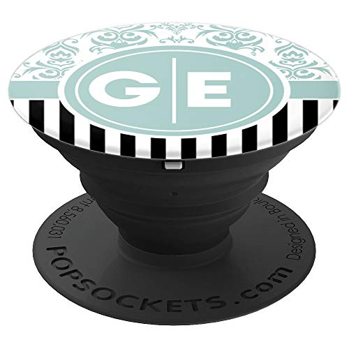 GE Pop Socket Two Initials GE Monogram Phone Grip - PopSockets Grip and Stand for Phones and ()