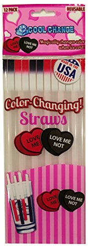 Cool Change Straws - Valentines Day Love Me Love Me (Party City Holiday)