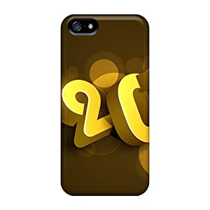 LYl3774aBmr Happy New Year 2014 3d Awesome High Quality Iphone 5/5s Cases Skin