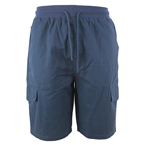 Evrimas Men's Cargo Shorts Elastic Waist Drawstring Cotton Loose Fit Casual Lightweight Outdoor Multi Pocket Twill Pants - Drawstring Lightweight Shorts