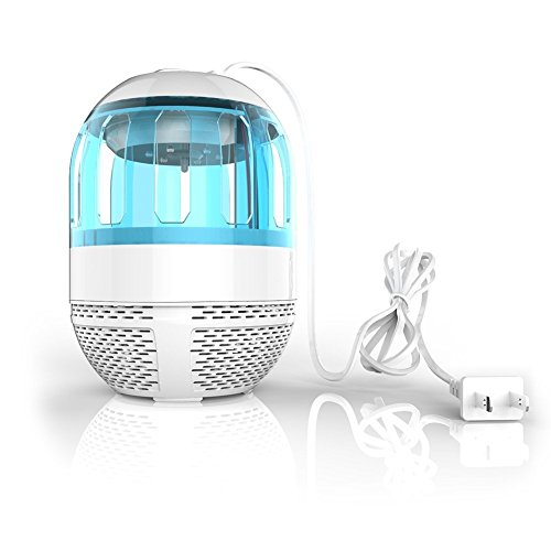 Non-toxic Mosquito Trap, Electronic UV Light Lamp Flies Insect Killer Bug Zapper Non-toxic Mosguito killer Eco-friendly Mosquito Insect Inhaler Lamp for Indoor Outdoor Use