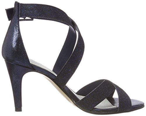 S.oliver Dames 28315 Sandales Moulantes Bleu (paillettes Bleu Marine)