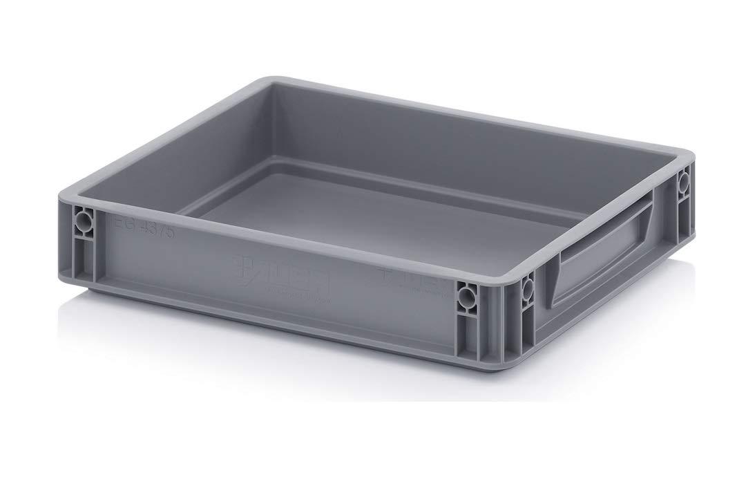 Aufbewahrungsboxen aus Kunststoff, 6,9 l, 40 x 30 x 7,5 cm, Grau (400 x 300 x 75 mm) Auer Packaging APSE43/075