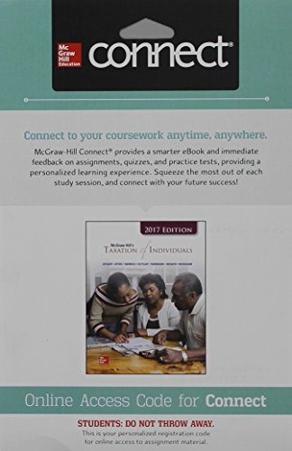 Connect 1- Semester Access Card For McGraw-Hill's Taxation Of Individuals 2017 Edition, 8e