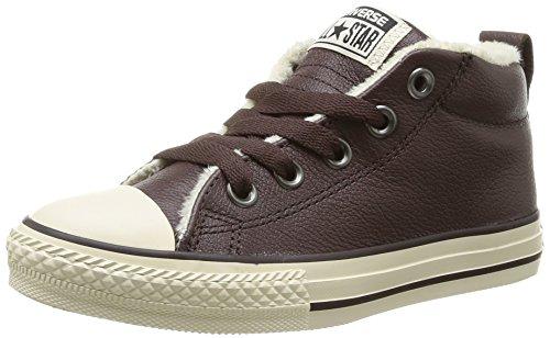 Converse Chuck Taylor All Star Junior Street Leather Shearling Mid 384661 Unisex - Kinder Sneaker Braun (9 MARRON)