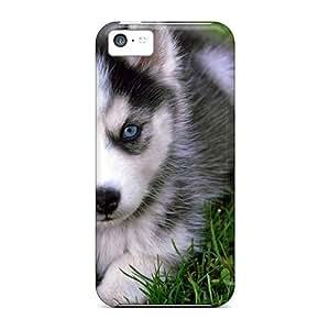 Iphone 5c Case Bumper Tpu Skin Cover For Animals Dogs Siberian Husky Accessories