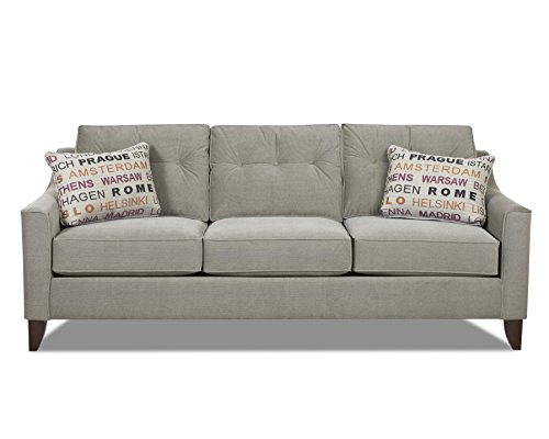 Klaussner Attire Battleship Audrina Sofa, 88 by 37 by 31-Inch